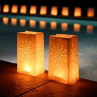 Luminous Candle bags (10 u.)