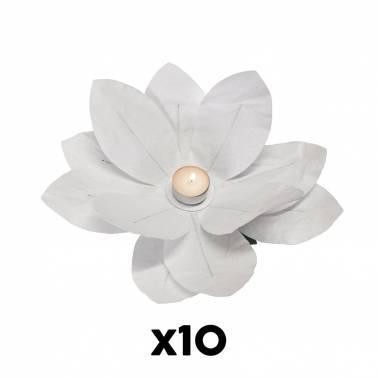 Candela fiore carta (10 U.)