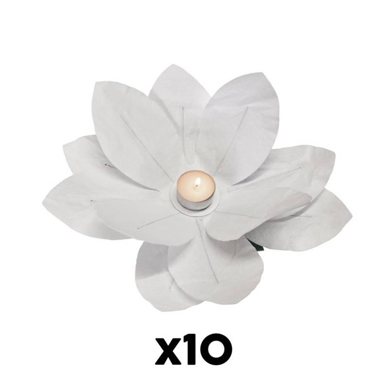 Bougie fleur papier (10 U.)
