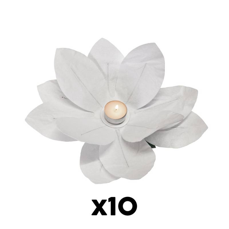 Paper Flower Candle (10 pcs.)