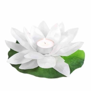 Vela flor poliéster (10 unid.)
