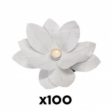 Bougie fleur papier (100 u.)