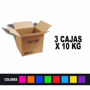 Poudre Holi (3 Boîtes x 10 Kg.)