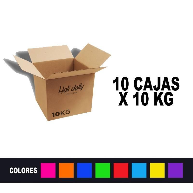 Poudre Holi (10 Boîtes x 10 Kg.)