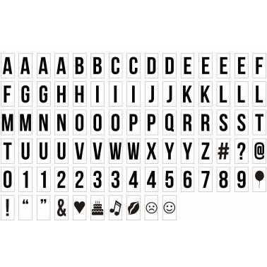 Lettere e simboli per scatola luminosa
