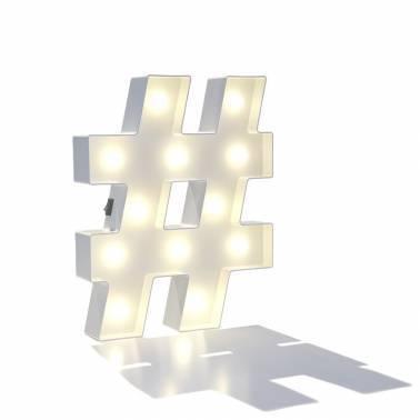 Simbolo luminose HASHTAG