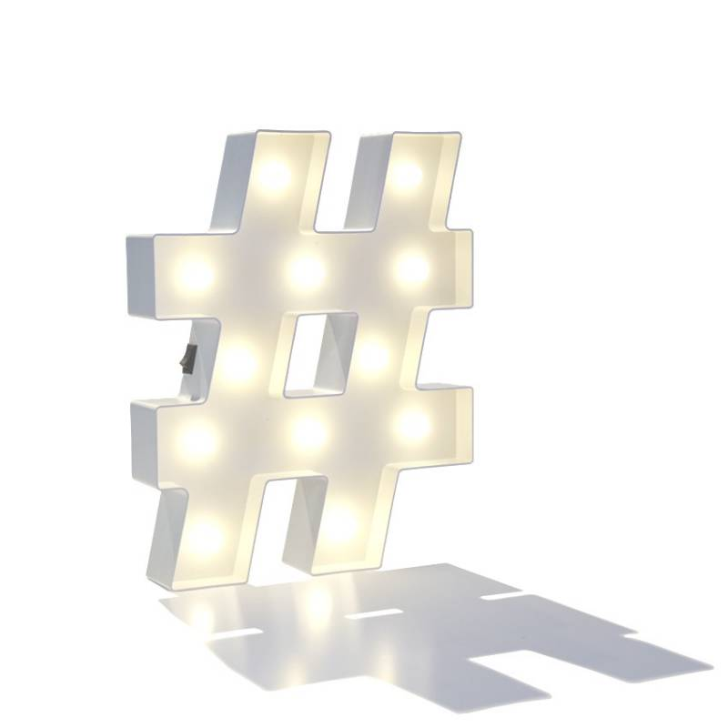 HASHTAG light symbol