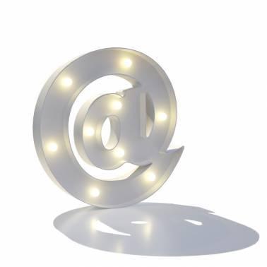 Símbolo luminoso ARROBA
