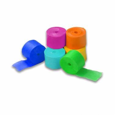 Paper streamers 5 m. (100 rolls)