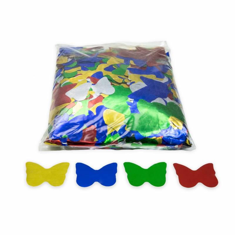 Confeti mariposas brillo (1kg.) Multicolor brillo