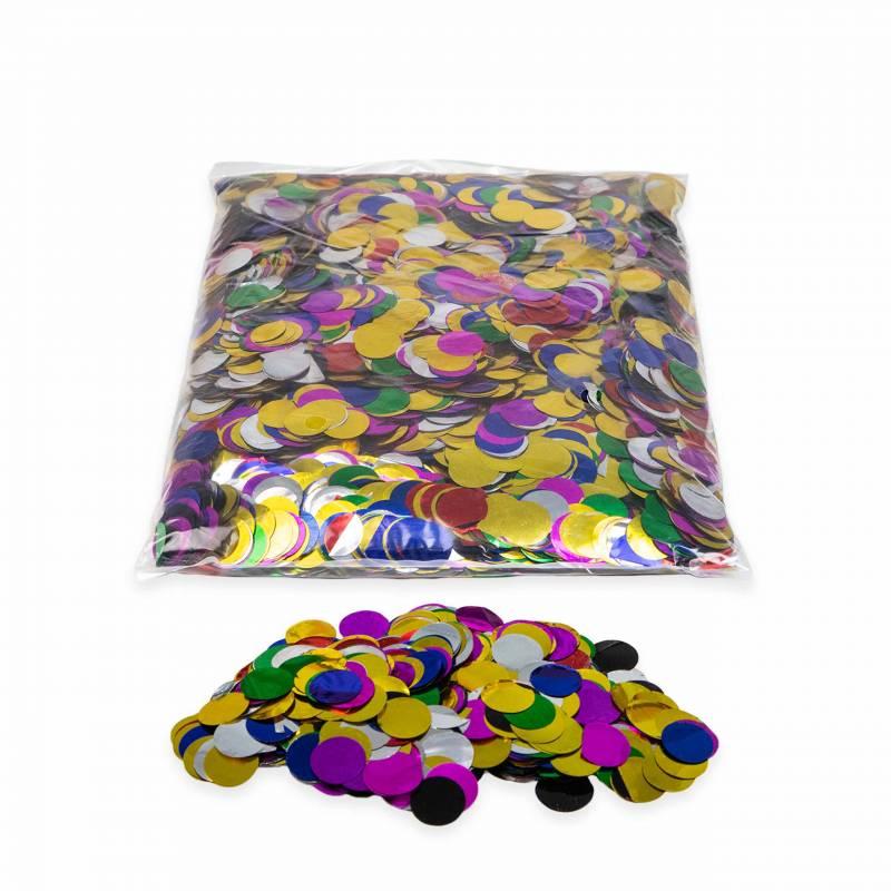 Metallic Rounds confetti 2 cm. (Bag 1 kg.)
