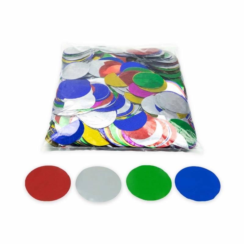 Metallic Rounds confetti (1 kg.)