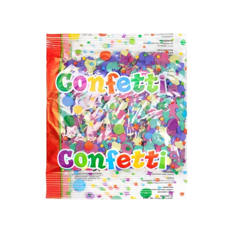 Confettis classique multicolores (Sac 50 g.)