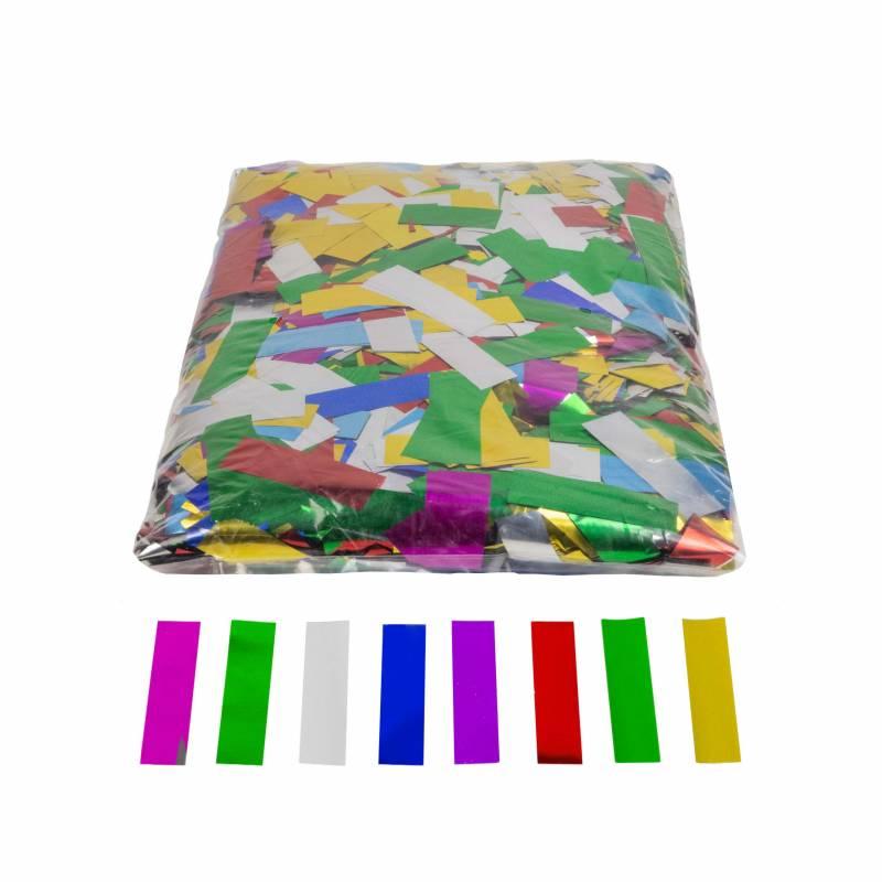 Metallic rectangular confetti (1 kg.)