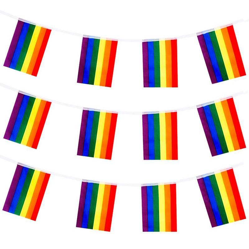 Banderines LGTBI de poliéster (25 M.)
