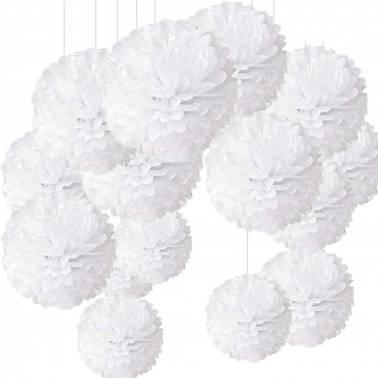 Pom pom di carta 30 cm (10 u.)