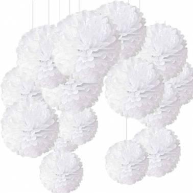Pompon en papier 40 cm (10 u.)
